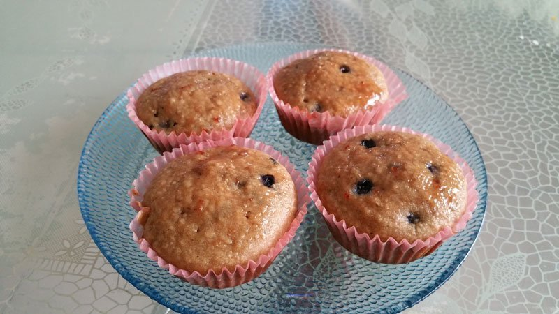 Weekend Getaway to Heaven : Whole-wheat Oats Blueberry Muffins!