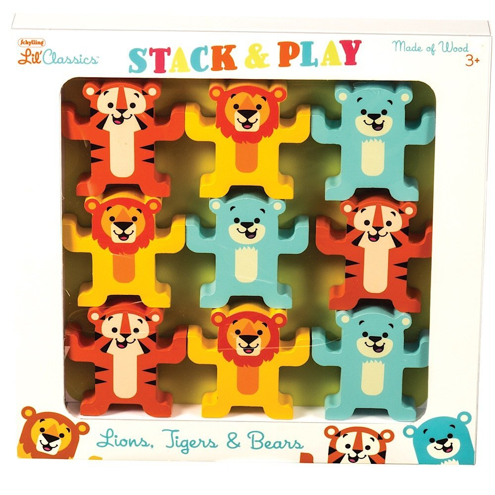 """Wooden Stacking Toy Review: """"Stack & Play"""" by Schylling"""