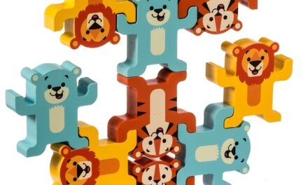 """Wooden Stacking Toy Review: """"Stack & Play: Lions, Tigers, and Bears"""" by Schylling"""