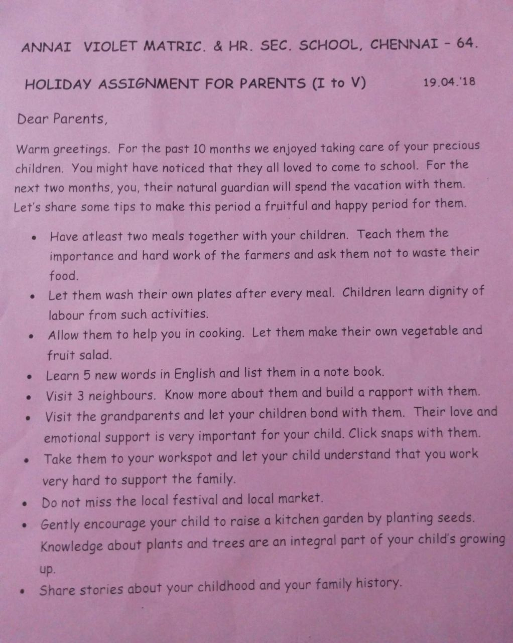 Holiday to-do list for parents