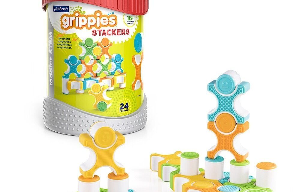 Grippies Stackers: Review of a Textured Construction Toy for Toddlers