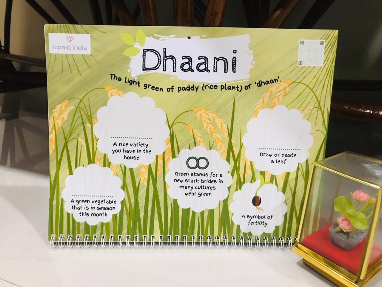 Colors of INdia- Kids Activity Calendar 2020