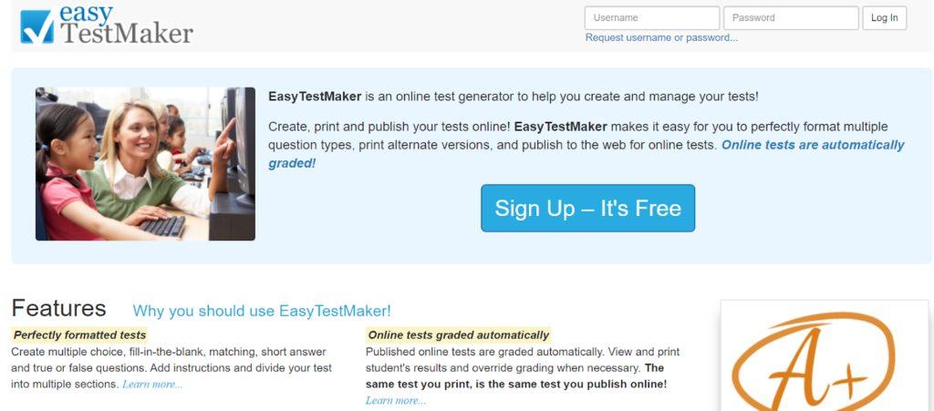 Easy testmaker- Online Test maker tool