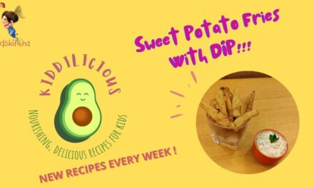 Kiddilicious Treats: Crispy Sweet Potato Fries Recipe with Bell Pepper & Carrot Dip
