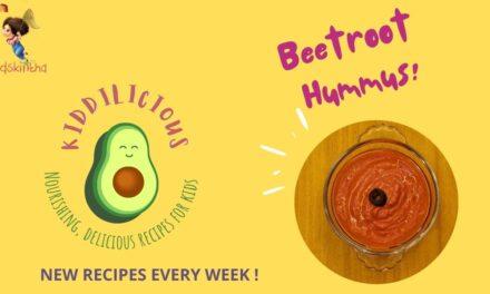 This Week's Kid-Friendly Recipe: Vibrant, Healthy & Delicious Beetroot Hummus!