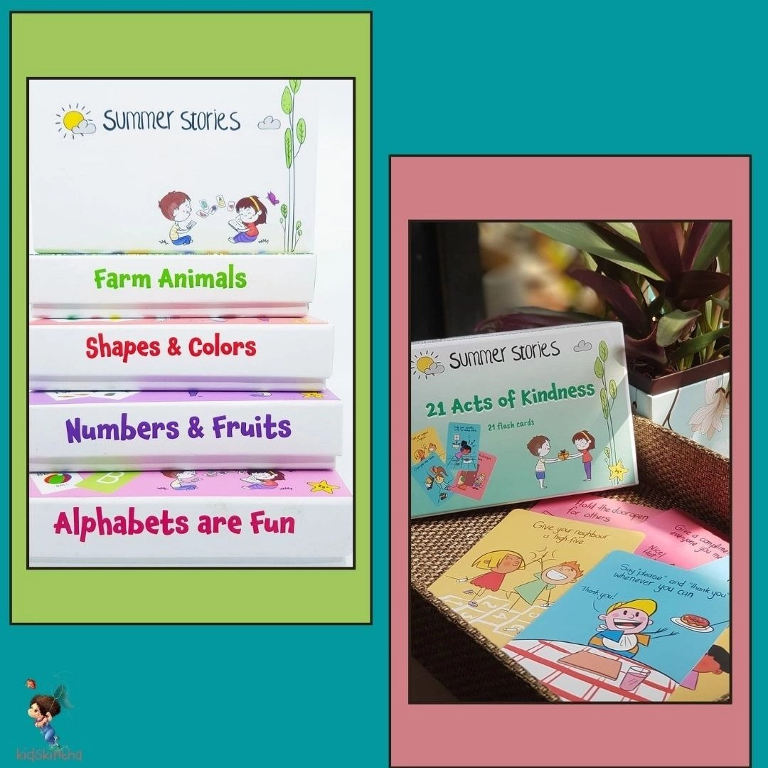 Summer Stories : Flashcard learning for kids